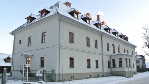 Národopisné múzeum Liptovský Hrádok - zimný náhľad