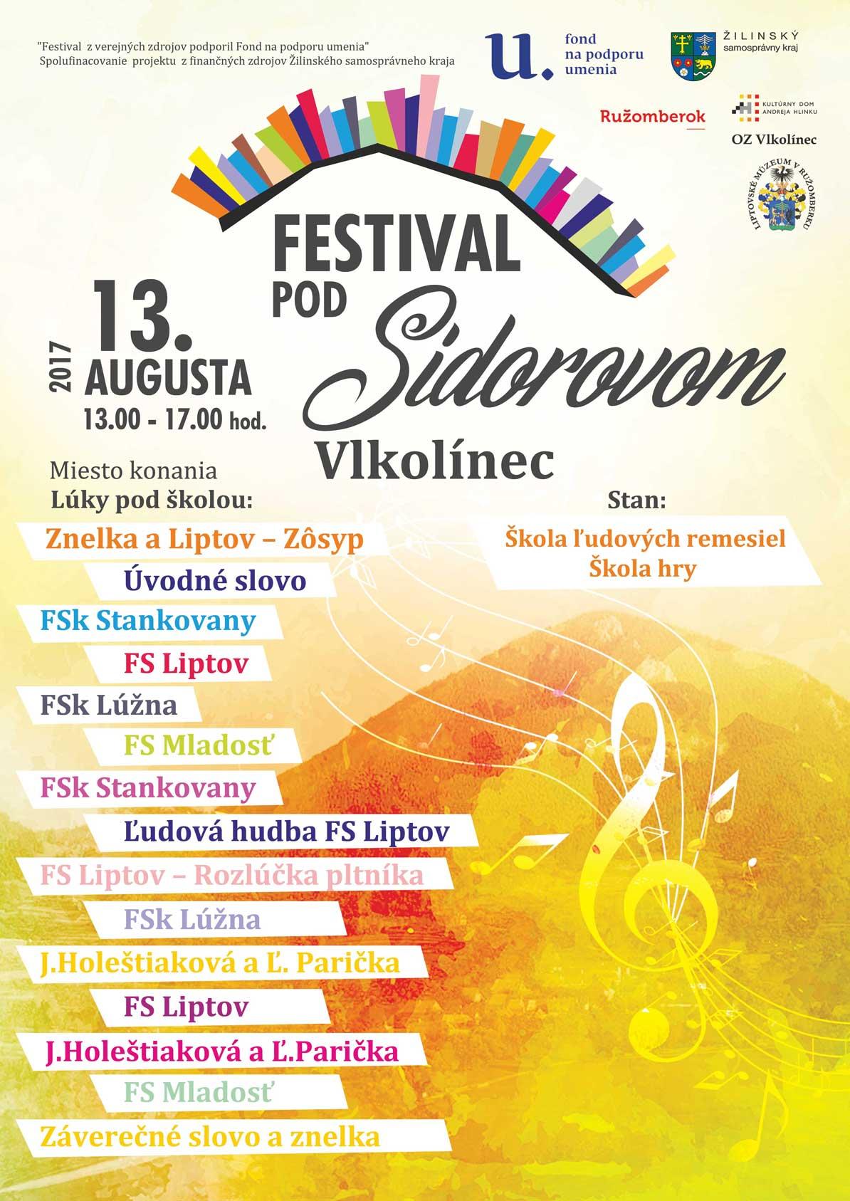 festival-pod-sidorovom-plagát-webb